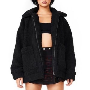 Famous Pixie Coat in Black From Iamgia